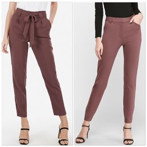 Express Thornberry Mid Rise Columnist Ankle Pants